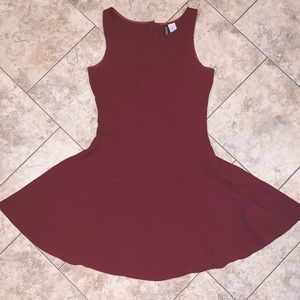 Burgundy Divided from H & M Dress